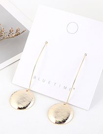 Fashion 14k Gold Gold-plated Disc Earrings