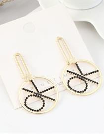Fashion 14k Gold S925 Silver Pin Plated Diamond Earrings