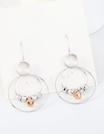 Fashion Platinum S925 Silver-plated Large Circle Hollow Earrings