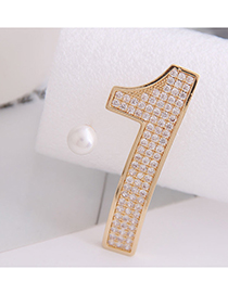 Fashion Golden Asymmetric Stud Earrings With 925 Silver And Diamonds