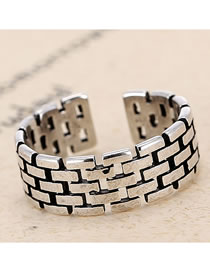 Fashion Silver Open Wide Openwork Ring