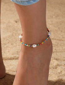 Fashion Color Color Beaded Pearl Anklet