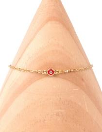 Fashion Golden Colored Dripping Eye Zircon Gold Bracelet