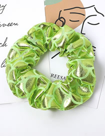 Fashion Fluorescent Green Fish Scale Pattern Laser Fabric Bowel Hair Rope