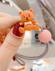 Fashion Gray Bear Tying The Color Ball To Tie The Hair Rope