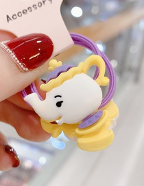 Fashion Yellow 1 Pair Elephant Resin Hit Color Rubber Band