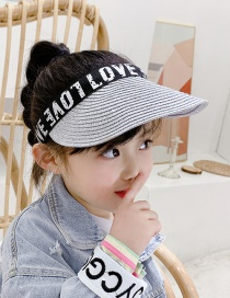 Fashion Silver Letter Print Sun Hat