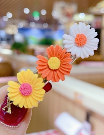 Fashion Color Series Small Daisy Hit Color Flower Hairpin