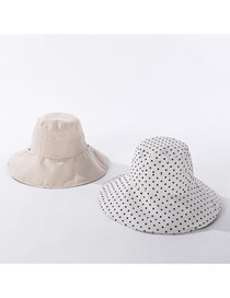 Fashion Beige Double-sided Foldable Cotton And Linen Fisherman Hat