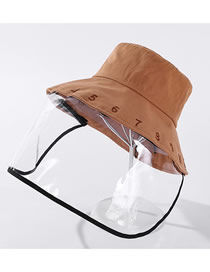 Fashion Caramel Colour Anti-foam Removable Digital Embroidered Cotton Fisherman Hat