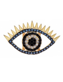 Fashion Golden Brass Inlaid Zircon Eye Accessories