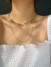 Fashion Golden Chain Hollow Alloy Multilayer Necklace