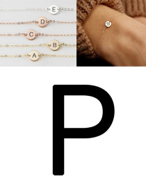 Fashion Rose Gold-p (6mm) Stainless Steel Engraved Geometric Bracelet