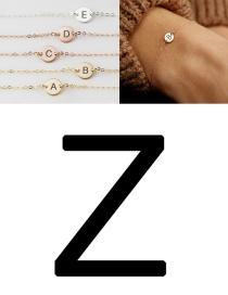 Fashion Rose Gold-z (6mm) Stainless Steel Engraved Geometric Bracelet