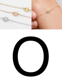 Fashion Golden-o (6mm) Bump Stainless Steel Engraved Geometric Round Bracelet