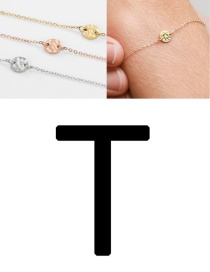 Fashion Rose Gold-t (6mm) Bump Stainless Steel Engraved Geometric Round Bracelet