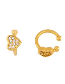 Fashion White Love Earrings With Diamonds