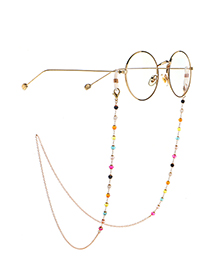 Fashion Golden Colorful Crystal Handmade Alloy Glasses Chain