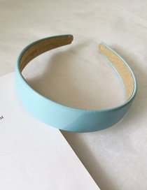 Fashion Sky Blue Patent Leather Smooth Non-slip Hair Hoop