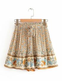 Fashion Photo Color Printed Elasticated Shorts