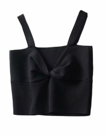Fashion Black Twist Chest Camisole