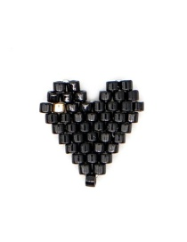 Fashion Black Bead Woven Love Accessories