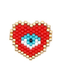 Fashion Red Bead Woven Love Accessories