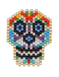 Fashion Color Bead Woven Skull Accessories