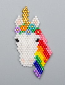 Fashion Small Color Bead Woven Unicorn Accessories