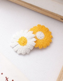 Fashion Two Flowers Yellow + White Flower Hairpin