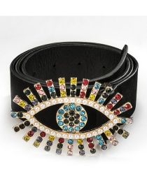 Fashion Colored Eyes Alloy Diamond Belt