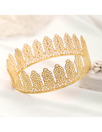 Fashion Golden Electroplated Hollow Geometric Alloy Crown