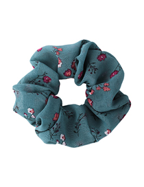 Fashion green Small floral fabric large bowel elastic hair rope