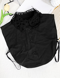 Fashion Black Fabric Mesh Open-breasted Fake Collar