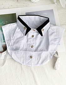 Fashion White Fabric Double-breasted Collar