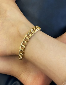 Fashion Golden Chain Alloy Single Layer Anklet