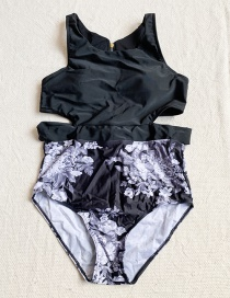 Fashion Color Printed One-piece Swimsuit