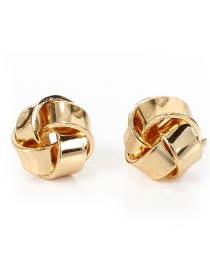 Fashion Golden Wrapped Twisted Alloy Geometric Stud Earrings