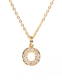 Fashion Golden O Diamond Clavicle Chain Diamond Letters Necklace