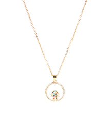 Fashion White Girl Boys And Girls Drop Oil Necklace