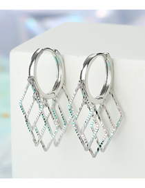 Fashion Silver Hollow Diamond Zircon Star Sequin Eye Earrings