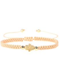Fashion Palm Gold Braided Rope Is Plated With Genuine Gold: Diamond Studded Star Bracelet.