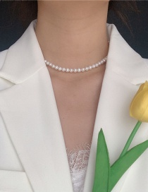 Fashion White Pearl Beads Necklace