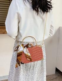 Fashion Pink Chain Box Box Shoulder Bag Handbag