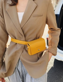 Fashion Yellow Buckle Broadband Single Shoulder Bag