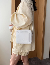 Fashion White Embroidered Single Shoulder Bag Satchel