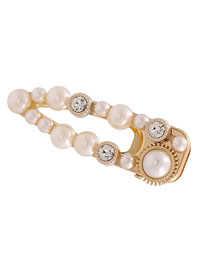 Fashion Big Duck Mouth Diamond Shaped Alloy Hollowed Hairpin