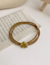 Fashion Ginger Small Flower Multi Layer Rubber Band