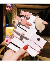 Fashion 9 Sets Of Color For Small Flying Pigs Cartoon Animal Hair Clip