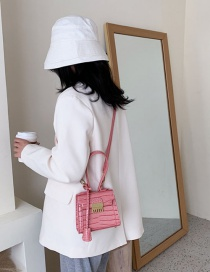 Fashion Pink The Stone Is Hollowed Out With A Single Shoulder Shoulder Bag